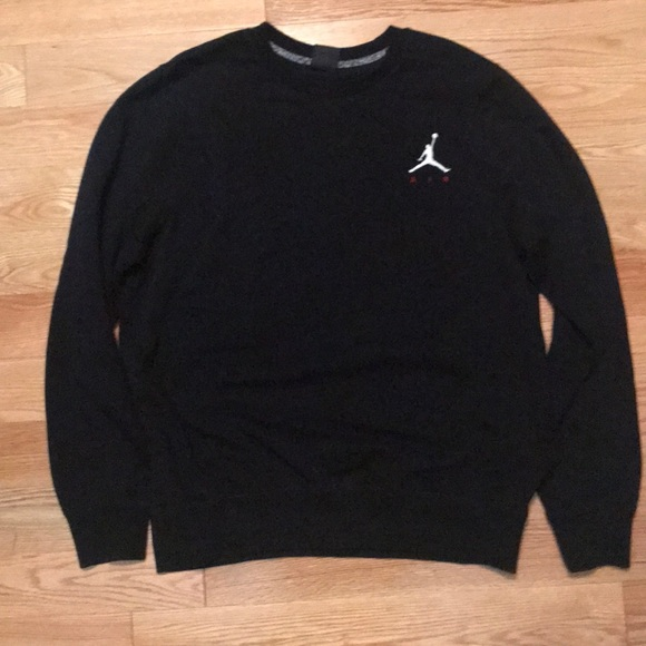Jordan Shirts Men Nike Crew Neck Sweatshirt Black Large Poshmark